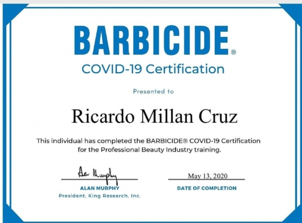 Barbicide - COVID-19 Certification